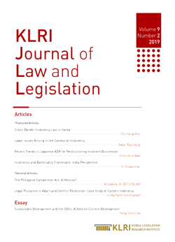 KLRI Journal of Law and Legislation Vol.9 No.2, 2019